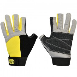 ALEX GLOVES-guantes para ferrata-amarillo/negro-L