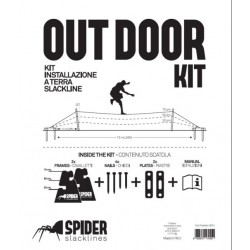 KIT SlackLine Spider OUTDOOR KIT white 15m